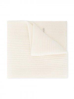 Кашемировый шарф в рубчик Simonetta. Цвет: нейтральные цвета