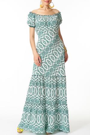 Платье Argent. Цвет: белый, зеленый