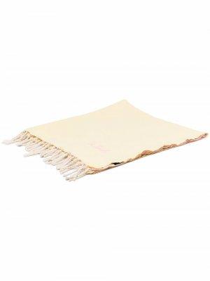 Пляжное полотенце с вышитым логотипом Mc2 Saint Barth. Цвет: желтый