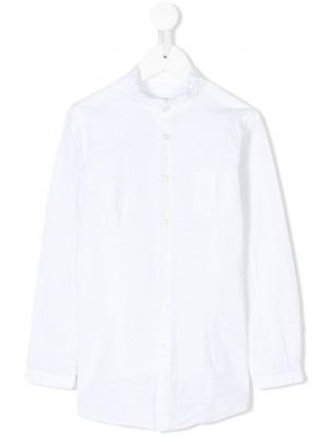 Рубашка с воротником-мандарин Paolo Pecora Kids. Цвет: белый