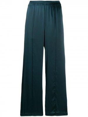 Расклешенные атласные брюки Katharine Hamnett London. Цвет: зеленый