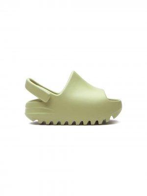 Шлепанцы Yeezy Adidas Kids. Цвет: зеленый