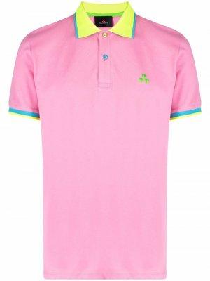 Рубашка поло с контрастной отделкой Peuterey. Цвет: розовый