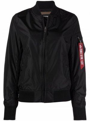 Спортивная куртка с воротником Alpha Industries. Цвет: черный