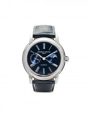 Наручные часы Classic Moonphase Manufacture 42 мм Frédérique Constant. Цвет: голубой