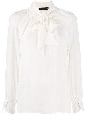 Блузка с бантом Fabiana Filippi. Цвет: белый
