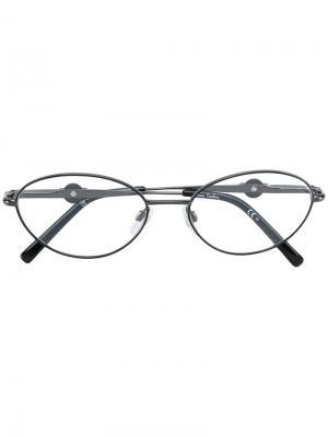 Очки в круглой оправе Pierre Cardin Eyewear. Цвет: золотистый