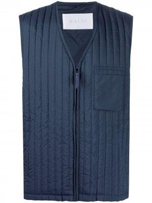 Стеганый жилет Bodywarmer Rains. Цвет: синий