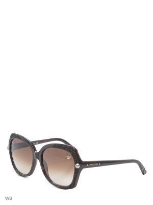 Солнцезащитные очки SK 0062 56F Swarovski. Цвет: коричневый