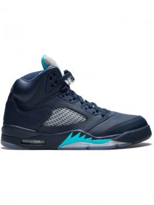 Кроссовки Air  5 Retro Jordan. Цвет: синий