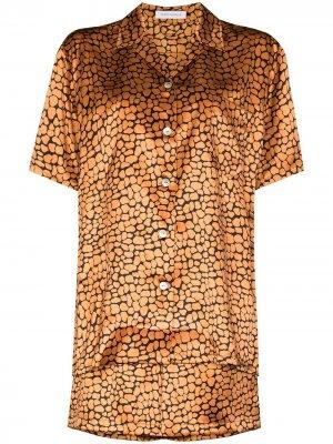 Пижама Emeli с леопардовым принтом Olivia von Halle. Цвет: оранжевый
