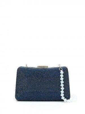 Клатч Mirela с кристаллами SERPUI. Цвет: синий