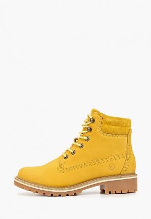 Ботинки Tamaris. Цвет: желтый
