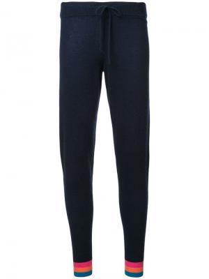 Спортивные брюки с полосками Chinti & Parker. Цвет: синий