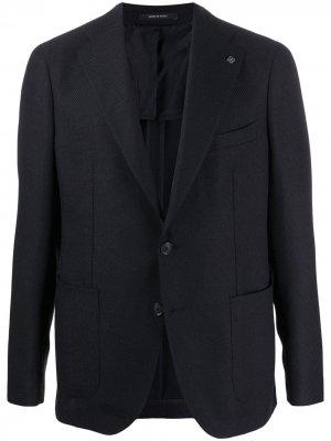 Пиджак прямого кроя Tagliatore. Цвет: синий