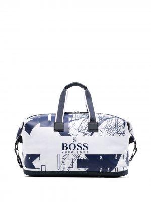 Дорожная сумка Tokyo BOSS. Цвет: белый