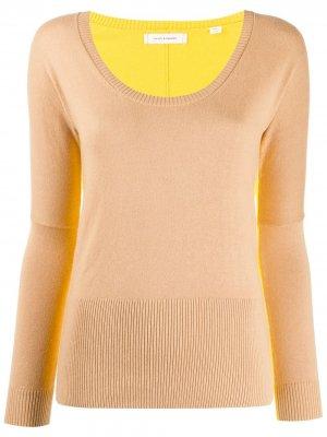 Приталенный пуловер Chinti and Parker. Цвет: нейтральные цвета