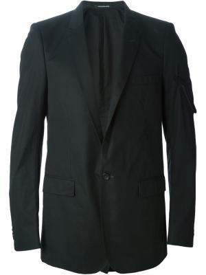 Блейзер с карманами на молнии Nicolas Andreas Taralis. Цвет: черный