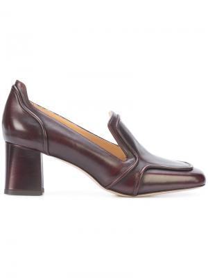 Туфли-лодочки с квадратным носком Marion Parke. Цвет: коричневый