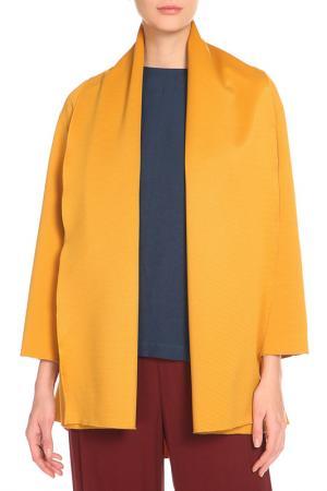 Пальто Cyrille Gassiline. Цвет: горчичный