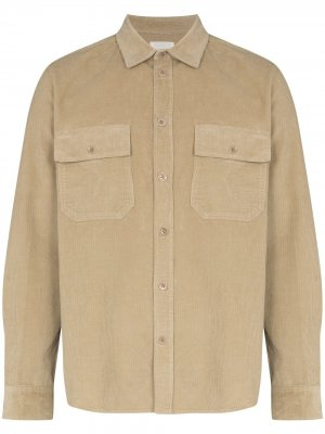 Вельветовая рубашка на пуговицах Wood. Цвет: нейтральные цвета