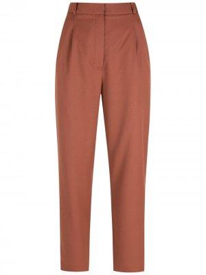 Брюки прямого кроя с боковыми карманами Nk. Цвет: коричневый
