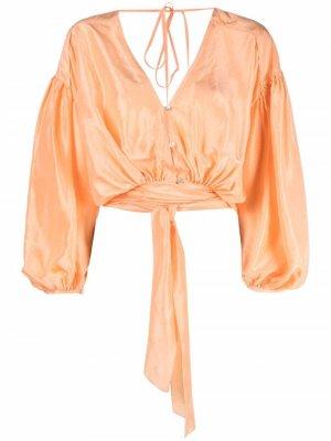 Блузка с поясом Forte. Цвет: оранжевый