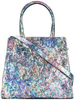 Большая сумка трапециевидной формы Zilla. Цвет: синий