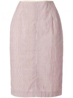 Юбка-карандаш в полоску Jean Paul Gaultier Pre-Owned. Цвет: нейтральные цвета