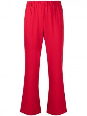 Укороченные расклешенные брюки Marni. Цвет: красный