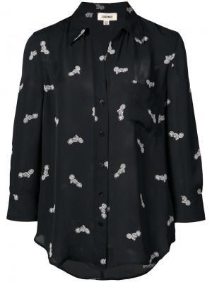 Рубашка с принтом L'agence. Цвет: черный