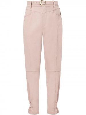 Зауженные джинсы Nicholas. Цвет: розовый