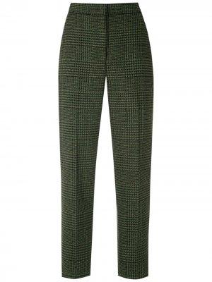 Твидовые брюки прямого кроя Eva. Цвет: зеленый