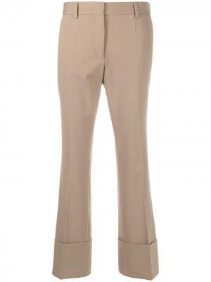 Расклешенные брюки средней посадки Alberto Biani. Цвет: коричневый