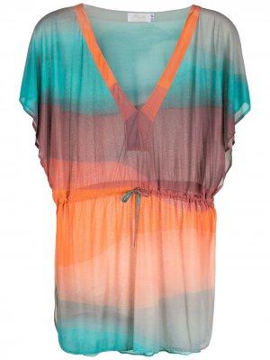 Пляжное платье в полоску с эффектом деграде Brigitte. Цвет: разноцветный