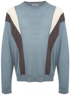 Panelled sweater Wooyoungmi. Цвет: синий