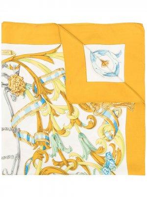 Шарф Le Mors A La Coletable pre-owned Hermès. Цвет: желтый
