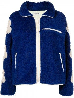 Куртка Grass с цветочной вышивкой Sandy Liang. Цвет: синий