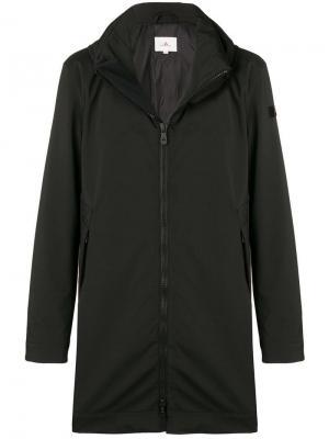 Однобортное пальто Peuterey. Цвет: черный