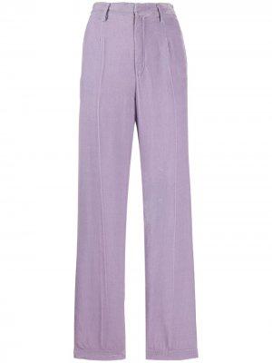 Бархатные брюки строгого кроя Forte. Цвет: фиолетовый