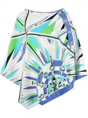 Пляжная накидка Bes с принтом Emilio Pucci. Цвет: зеленый
