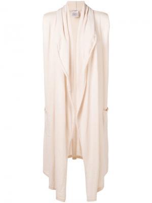 Облегающая куртка без рукавов Chanel Vintage. Цвет: нейтральные цвета
