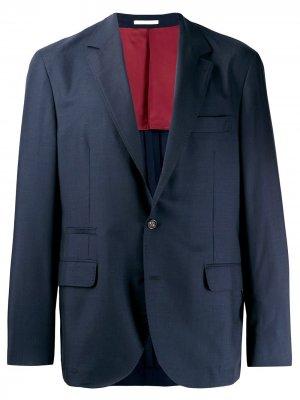 Однобортный блейзер Brunello Cucinelli. Цвет: синий