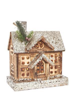 Домик с LED подсветкой DUE ESSE CHRISTMAS. Цвет: коричневый