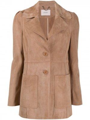 Кожаная куртка Dorothee Schumacher. Цвет: нейтральные цвета