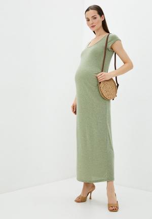 Платье Mamalicious. Цвет: зеленый