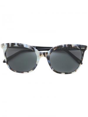 Солнцезащитные очки кошачий глаз с черепаховым узором Tiffany & Co Eyewear. Цвет: синий