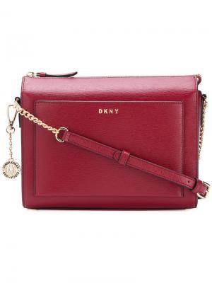 Средняя сумка через плечо Donna Karan. Цвет: красный