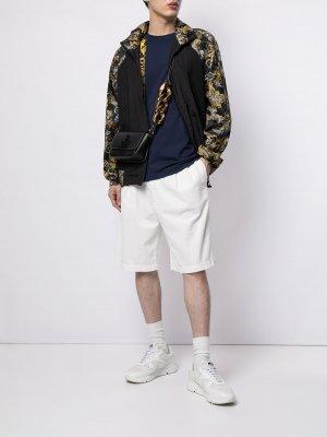 Спортивная куртка с принтом Baroque Versace Jeans Couture. Цвет: черный