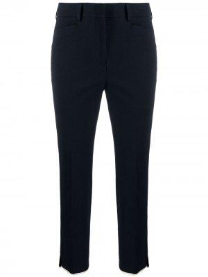 Укороченные брюки чинос Incotex. Цвет: синий